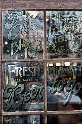 Photograph - Fresh Brewed Beer by Barry Cole