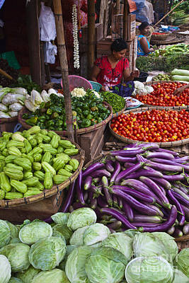 Photograph - Fresh Burmese Vegetables by Craig Lovell