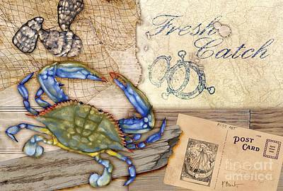 Painting - Fresh Catch Blue Crab by Paul Brent