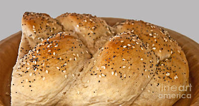 Photograph - Fresh Challah Bread Art Prints by Valerie Garner