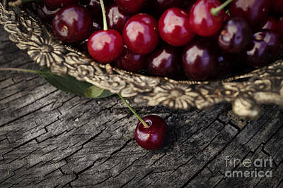 Fresh Cherry Art Print by Mythja  Photography