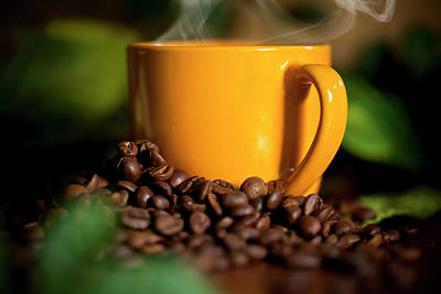 Yellow Photograph - Fresh Coffee by Nastasic