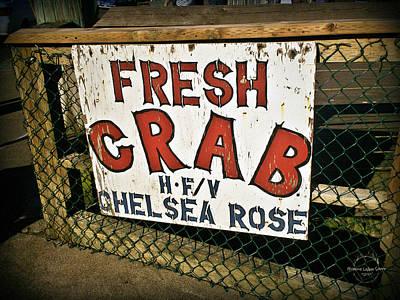 Photograph - Fresh Crab by Absinthe Art By Michelle LeAnn Scott