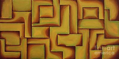 Modern Painting - Golden Bliss by Wayne Cantrell