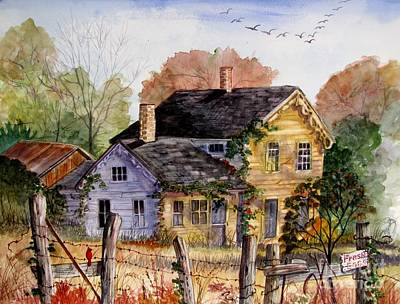 Farm Scene Painting - Fresh Eggs For Sale by Marilyn Smith