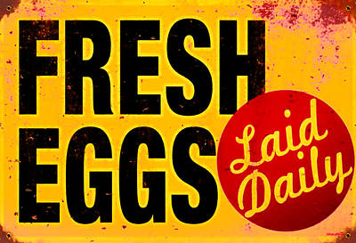Lay Digital Art - Fresh Eggs Laid Daily by Bill Cannon