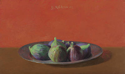 Painting - Fresh Figs On An Iron Plate by Ben Rikken