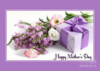 Digital Art - Fresh Flowers And Gifts Mother's Day by JH Designs