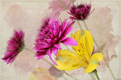 Photograph - Fresh Flowers by Judy Vincent