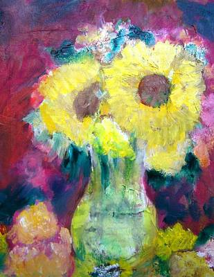 Flower Still Life Mixed Media - Fresh From The Flower Garden by Patricia Taylor