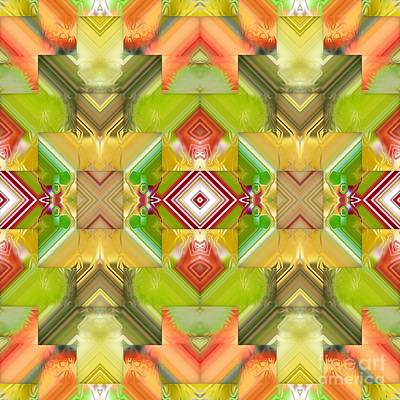 Digital Art - Fresh Fruit Kaleidoscope by Liane Wright