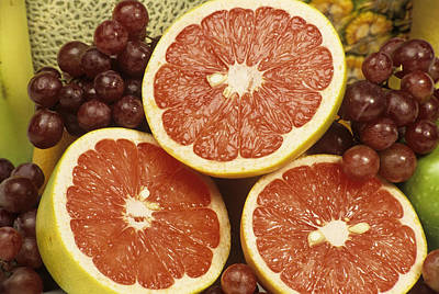 Grapefruit Photograph - Fresh Fruit by Sally Mccrae Kuyper/science Photo Library