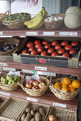 Photograph - Fresh Fruits And Vegetables At The Union County Store  by Terri Thompson