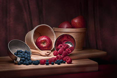 Raspberry Photograph - Fresh Fruits Still Life by Tom Mc Nemar