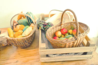 Basket Photograph - Fresh Harvest by Tom Gowanlock