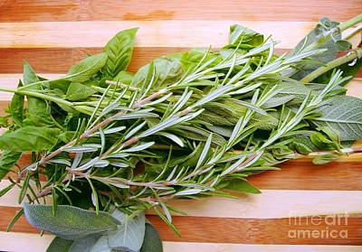 Photograph - Fresh Herbs by Nina Ficur Feenan
