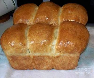 Fresh Homemade Bread Art Print by Barbara Griffin