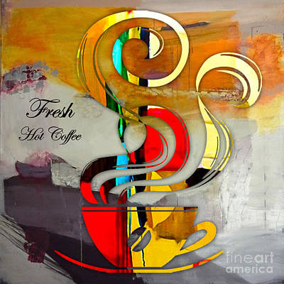 Mixed Media - Fresh Hot Coffee by Marvin Blaine