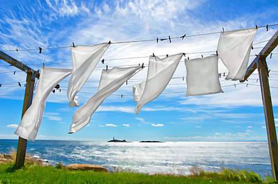 Fresh Laundry Art Print by Donna Doherty