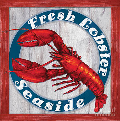 Painting - Fresh Lobster by Sher Sester