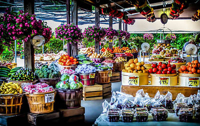 Farm Stand Photograph - Fresh Market by Karen Wiles