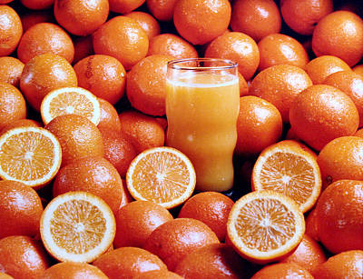 Fresh Orange Juice Art Print