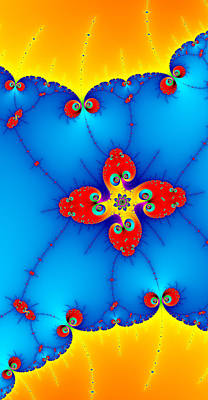 Digital Art - Fresh Orange Red And Blue Abstract Fractal Art by Matthias Hauser