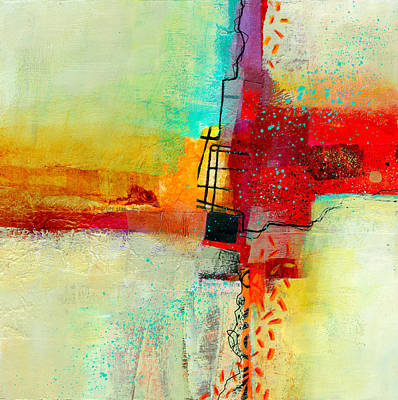 Abstract Collage Painting - Fresh Paint #2 by Jane Davies