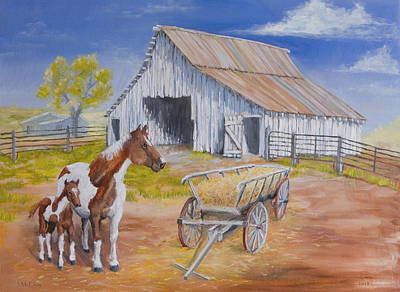 Ranch Painting - Fresh Paint by Jerry McElroy