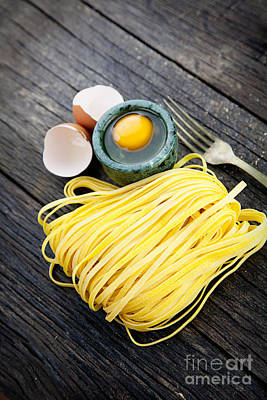 Spaghetti Noodles Photograph - Fresh Pasta by Mythja  Photography