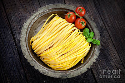 Fresh Pasta Art Print by Mythja  Photography