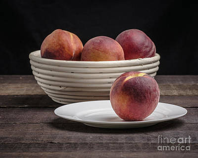 Fresh Peaches Art Print by Edward Fielding