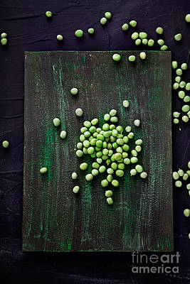 Fresh Peas Art Print by Mythja  Photography