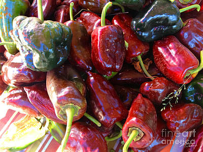 Vegetable Market Photograph - Fresh Picked Peppers  by Shari Warren