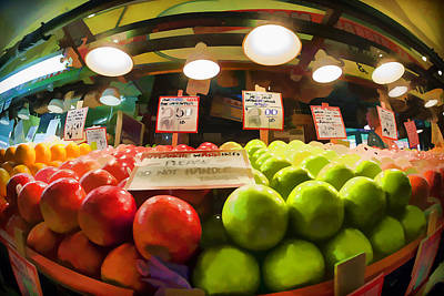 Fresh Pike Place Apples Art Print