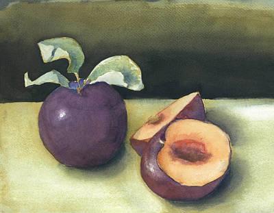 Fresh Plums Original by Maria Hunt