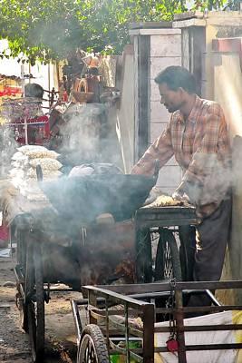 Photograph - Fresh Popcorn - Rishikesh India by Kim Bemis