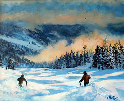 Fresh Powder Art Print by W  Scott Fenton