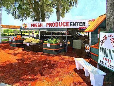 Fresh Produce Stand I Art Print by Buzz  Coe