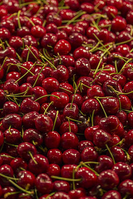 Photograph - Fresh Red Cherries by Scott Campbell