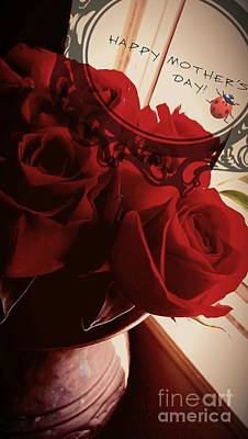Photograph - Fresh Red Roses by Denisse Del Mar Guevara