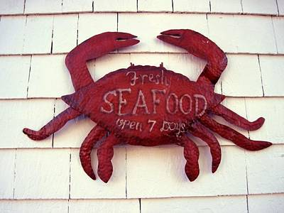 Fresh Seafood Sign Boothbay Harbor Art Print by Patricia E Sundik