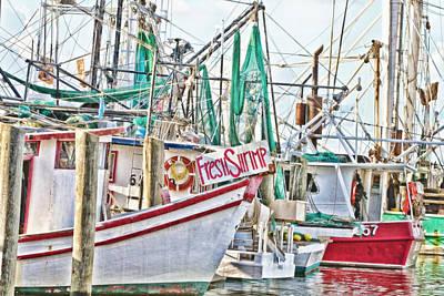 Fresh Shrimp Dockside Art Print by Scott Pellegrin