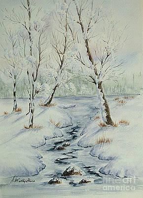 Fresh Snow Original by April McCarthy-Braca