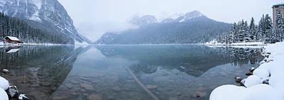 Lake Louise Photograph - Fresh Snow At Lake Louise, Banff by Panoramic Images
