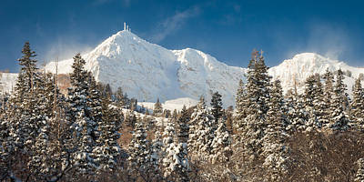 Fresh Snow On Mount Ogden Art Print by Rory Wallwork