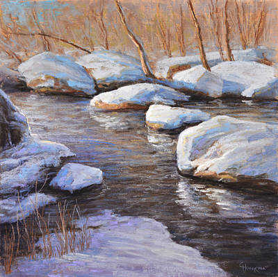 Painting - Fresh Snow Unami Creek by Gary Huber