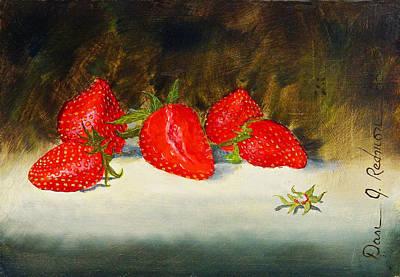Fresh Strawberries Art Print by Dan Redmon