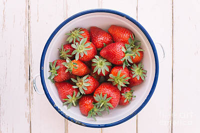 Fruit Bowl Photograph - Fresh Strawberries  by Viktor Pravdica
