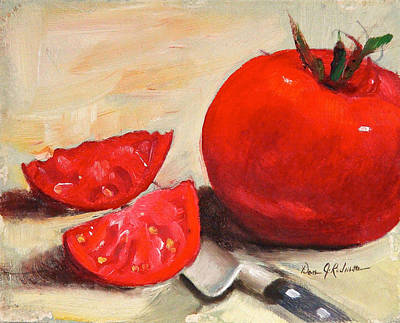 Painting - Fresh Tomatoes by Dan Redmon
